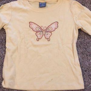 👶🏼Children's Place Yellow Butterfly Shirt
